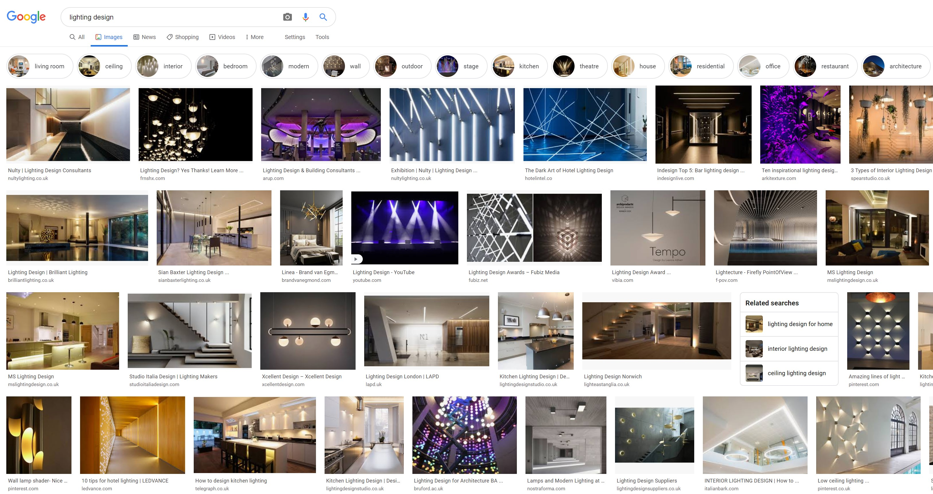 Google lighting design